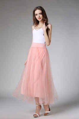 Bunny | White A-line Tulle Skirt_2