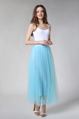 Bunny | White A-line Tulle Skirt_5