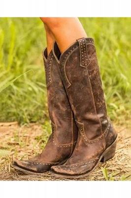 Stylish Knee High Women's Boots_1