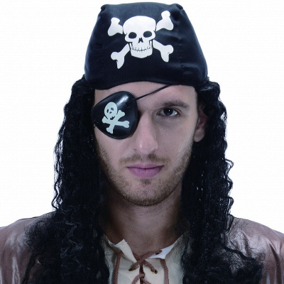 Bandana Curly Realistic Pirate Synthetic Wig for Cosplay_1