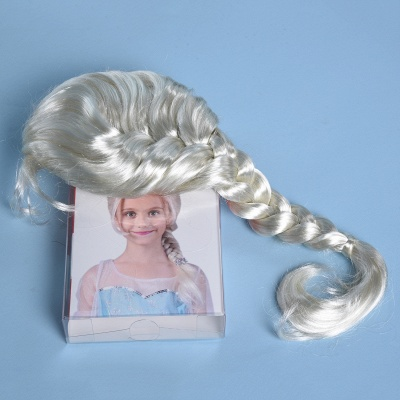 Gold Braided Long Synthetic Wigs for Women_6