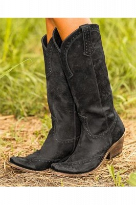 Stylish Knee High Women's Boots_3