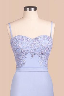Spaghetti Straps Appliques Long Sexy Prom Dresses   Elegant Sweep Train Evening Dresses_7