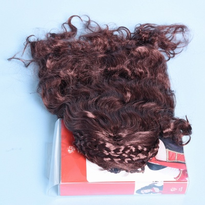 Copper Red Long Wavy Curly Cosplay Synthetic Wigs for Girls_6