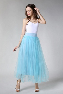 Bunny | White A-line Tulle Skirt_41