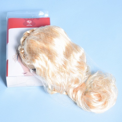 Gold Long Wavy Realistic Synthetic Hair Wig_5