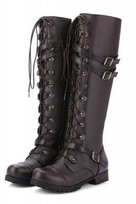 Cowboy Brown Knee High Women's Boots_1