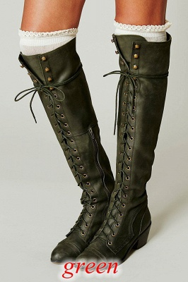 Chic Brown Knee High Women's Boots_5