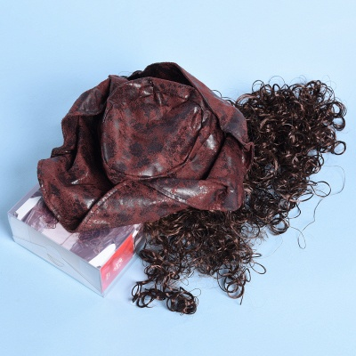 Copper Red Long Wavy Curly Pirates Synthetic Wigs_6