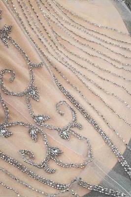 Luxury Cap Sleeves Keyhole Rhinestones Mermaid Prom Dresses | Gorgeous Beaded Evening Dress_41