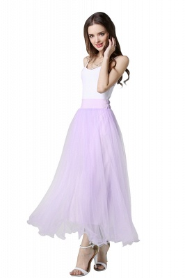 Bunny | White A-line Tulle Skirt_32