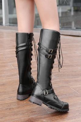 Cowboy Brown Knee High Women's Boots_10