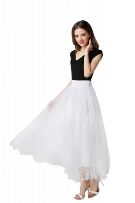 Bunny | White A-line Tulle Skirt_9