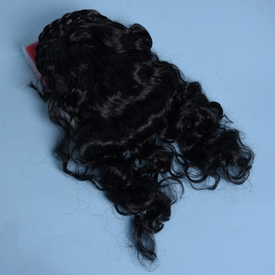 Black Long Wavy Curly Cosplay Wigs for Girl_3