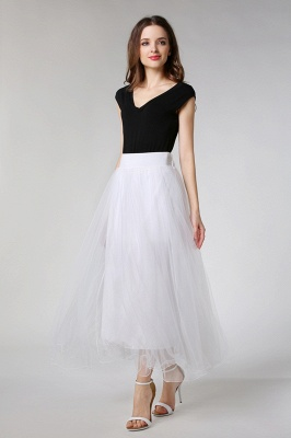 Bunny | White A-line Tulle Skirt_10