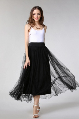 Bunny | White A-line Tulle Skirt_24