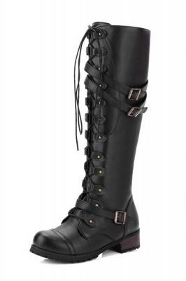 Cowboy Brown Knee High Women's Boots_3