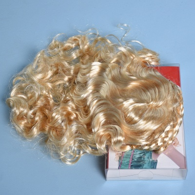 Gold Long Wavy Curly Cosplay Wigs for Girl_4