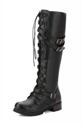 Cowboy Brown Knee High Women's Boots_7