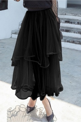 Beatrice | Black Tulle Skirt with Layers_8