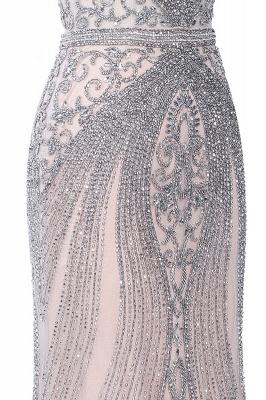 Luxury Cap Sleeves Keyhole Rhinestones Mermaid Prom Dresses | Gorgeous Beaded Evening Dress_32