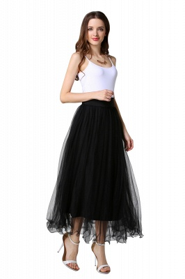Bunny | White A-line Tulle Skirt_23