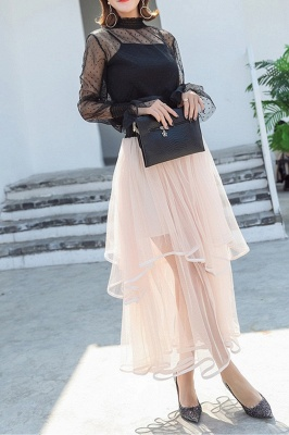Beatrice | Black Tulle Skirt with Layers_1