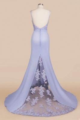 Spaghetti Straps Appliques Long Sexy Prom Dresses   Elegant Sweep Train Evening Dresses_6