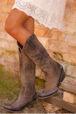 Stylish Knee High Women's Boots_8