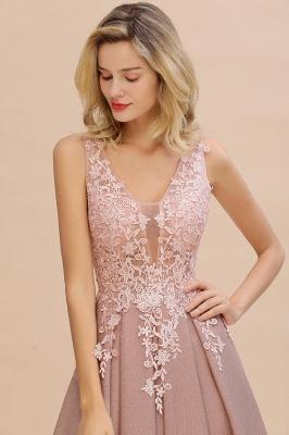 Elegant Sleeveless V-neck Floor Length Appliques Prom Dresses | Cheap Backless Evening Dresses_17
