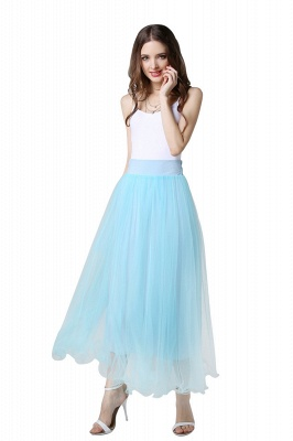 Bunny | White A-line Tulle Skirt_38