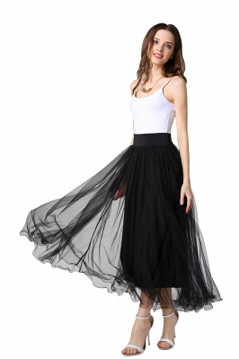 Bunny | White A-line Tulle Skirt_22