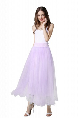 Bunny | White A-line Tulle Skirt_33