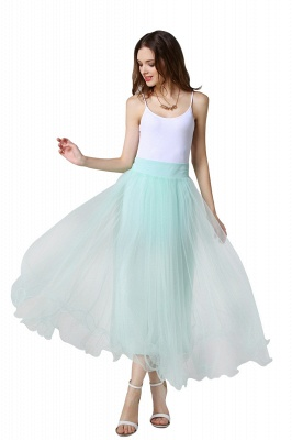 Bunny | White A-line Tulle Skirt_13