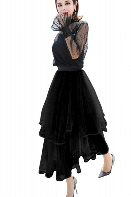 Beatrice | Black Tulle Skirt with Layers_2