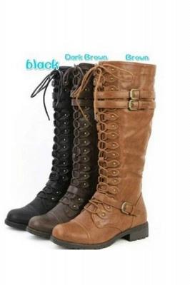 Cowboy Brown Knee High Women's Boots_4