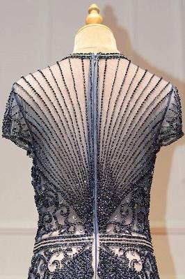 Luxury Cap Sleeves Keyhole Rhinestones Mermaid Prom Dresses | Gorgeous Beaded Evening Dress_28