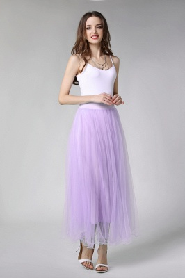 Bunny | White A-line Tulle Skirt_36