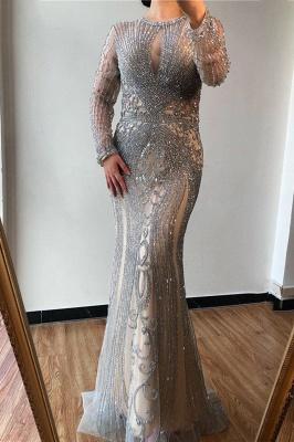 Luxury Cap Sleeves Keyhole Rhinestones Mermaid Prom Dresses | Gorgeous Beaded Evening Dress_20