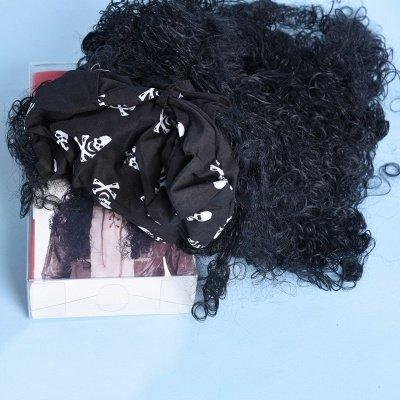 Long Wavy Caribbean Buccaneer Costume Wig Standard_5