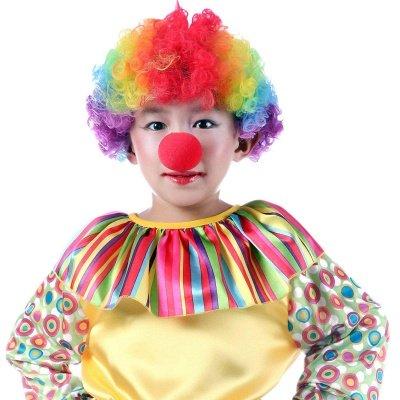 Rainbow Wavy Curly Clown Cosplay Wigs_1
