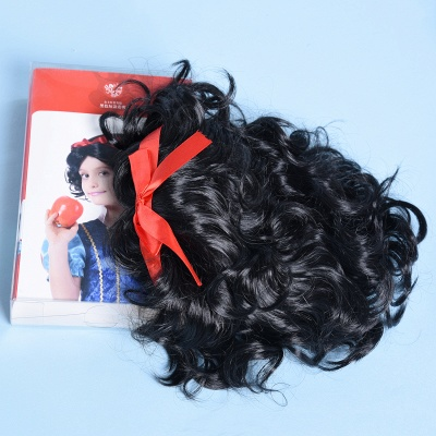 Short Cosplay Curly Synthetic Wigs for Girls_4