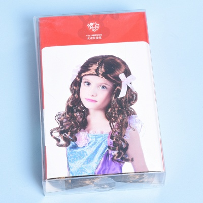 Copper Red Long Wavy Curly Synthetic Wigs for Girl_4