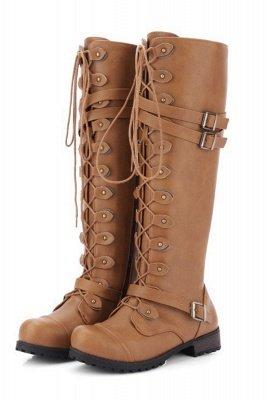 Cowboy Brown Knee High Women's Boots_2