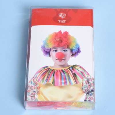 Rainbow Wavy Curly Clown Cosplay Wigs_3