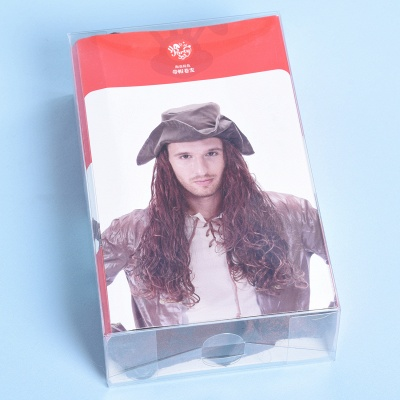 Copper Red Long Wavy Curly Pirates Synthetic Wigs_3