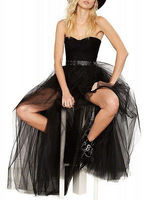 Blossom | Black Tassel High Low Petticoat