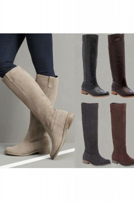 Fashion Brown Knee High Boots for Women