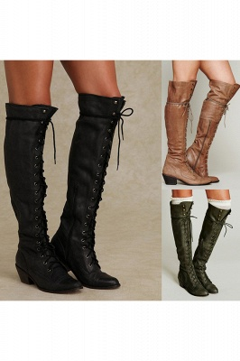 Chic Brown Knee High Women's Boots_4