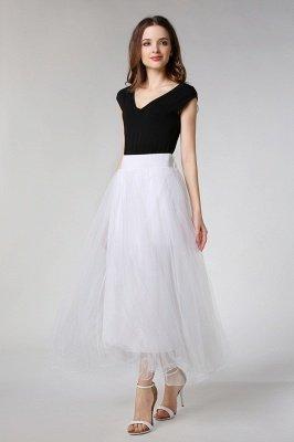 Bunny | White A-line Tulle Skirt_10